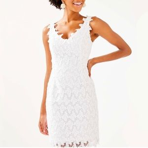 Lilly Pulitzer • Reeve White Lace Shift Dress